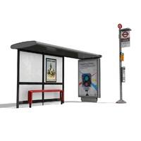 london bus stop x