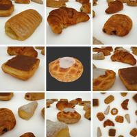 3d 6 pastry coffeecakes