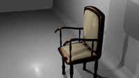 3d model antique chair