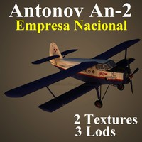 antonov 2 cni aircraft 3d max