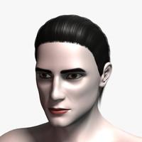 3d model david hair