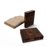 leather book 3d 3ds
