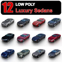 Low Poly Luxury Sedans vol.1