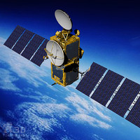 european space satellite 3d model