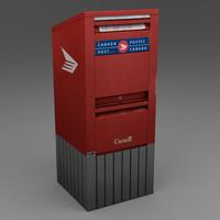 mailbox mail 3d obj