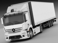 mercedes antos trailer 3d max