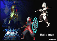 3d haku-men blazblue