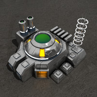 3d reactor sci-fi building model