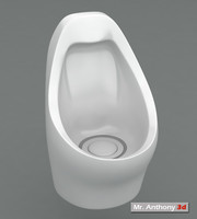 3d model waterless urinal