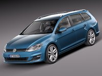 2014 volkswagen golf 3d model