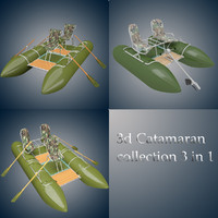 catamaran 3d max