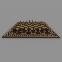 chess board 3d max