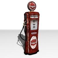 3d model 1950 gas pump