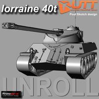 lorraine 40 3d model