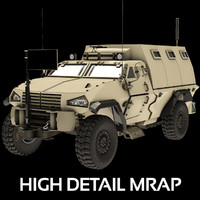 mrap 2014 vehicle transportation 3d model