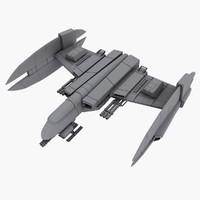 3d spaceship concept model