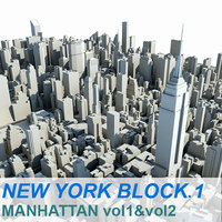 3d model new york manhattan block