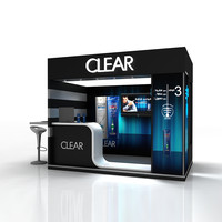 3d max simple booth clear