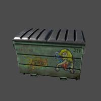 dumpster dump 3d model