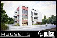 apartment house modern 3d model