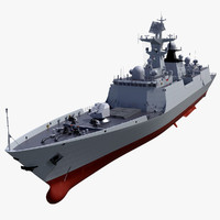 3ds max chinese navy frigate