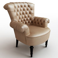 Classical leather armchair