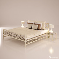 bed set 3d dxf