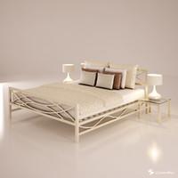 3d model bed set