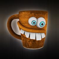 3d model funny mug