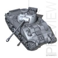 3d model m4 sherman firefly vc