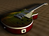 3d model gibson les paul guitar