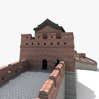 great wall china 3d model