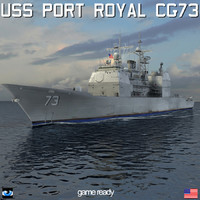 uss port royal cg-73 3d 3ds