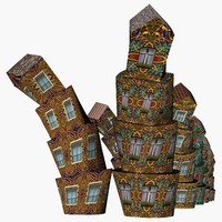 3d building structure model