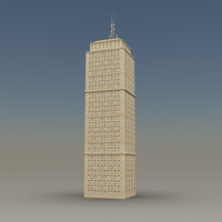 skyscraper 03 day night 3d model