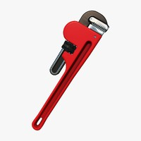 3d adjustable pipe wrench model