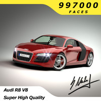3d audi r8 car - model