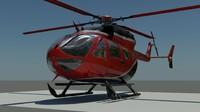 ec-145 london police 3d model