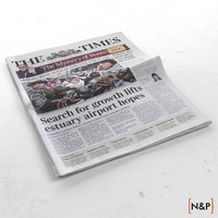 newspaper folded 3d model