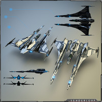 3d gunship gun model