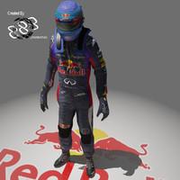 formula vettel 2013 3d max