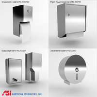 3d model asi paper towel dispensers