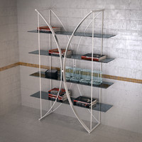 3ds max book shelf 7245 tonin