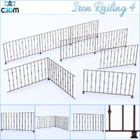 3ds max iron railing