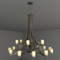 chandelier lights 3d model