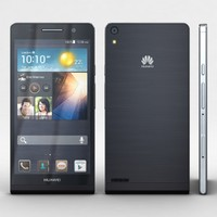 3d huawei ascend p6 black model