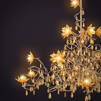 3d jewel chandelier hl15 amber model