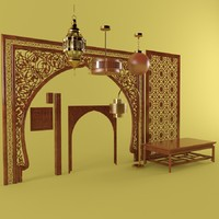 3d model east oriental style light