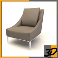 jean chair 3d c4d
