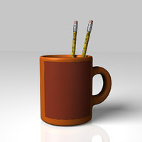 obj mug pencils office